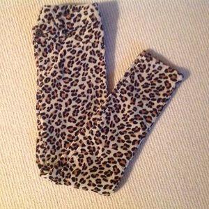 NEW Leopard Print 5 Pocket Skinny Jeans Sz 7